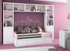 Storage Hacks Perfect for Your Apartment's Tiny Bedroom Small Room Bedroom, Modern Bedroom, Girls Bedroom, Bedroom Decor, Couches For Small Spaces, Small Rooms, Fantasy Bedroom, Bedroom Layouts, Design Case