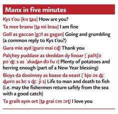 Manx Manx Language, Christian Families, Isle Of Man, Family First, My Heritage, Story Ideas, Origins, Languages, Personal Development