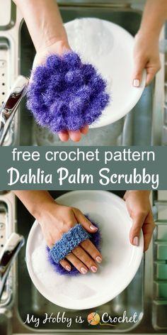 Dahlia Palm Scrubby - Free Crochet Pattern