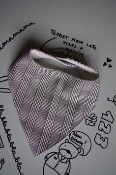 Pepita  Nyálkendő / 12+ hónapos méret / fekete, fehér, kockás, kendő, Baba-mama-gyerek, Ruha, divat, cipő, Gyerekruha, Baba (0-1év), Meska Baba, Crop Tops, Women, Fashion, Moda, Fashion Styles, Fashion Illustrations, Cropped Tops, Crop Top Outfits