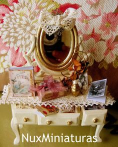 Dollhouse Dressing Table by NuxMiniaturas on Etsy, $85.00