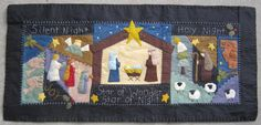 Holy Night Table Runner. Nativity Scene in wool felt. New Pattern! Available at Village Dry Goods or woolenstitches14@gmail.com
