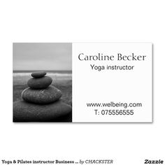 Yoga & Pilates instructor Business card