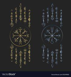 Viking Tattoo Symbol, Norse Tattoo, Celtic Tattoos, Viking Tattoos, Viking Symbols And Meanings, Nordic Symbols, Magic Symbols, Tattoo Sleeve Designs, Sleeve Tattoos