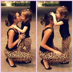 Matching leopard outfits