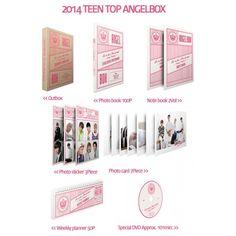 Extremely cool Teen Top set of merchandise called Angel Box. Kpop Merch, Weekly Planner, Photo Book, Fangirl, Teen, Kawaii, Bts, Music, Musica