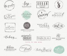 Business Logo Bundle: Every business needs a logo, that's why it's always a good idea to have some amazing logo templates in your toolbox. Logo Sticker, Sticker Design, Logo Minimalista, Lab Logo, Boutique Logo, Floral Logo, Free Logo, Grafik Design, Creative Logo