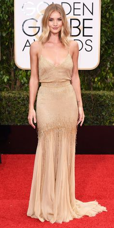 2016 Golden Globes: Rosie Huntington-Whiteley in Atelier Versace.