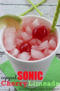 Copycat Sonic Cherry Limeade on Frugal Coupon Living - Sweet Summer Beverage to Quench Your Thirst