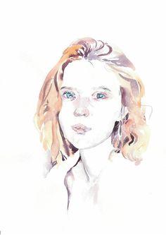 Custom portrait by MicromysWatercolor on Etsy