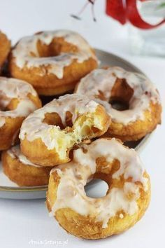 Oponki z mascarpone. Donuts with mascarpone. Gourmet Recipes, Appetizer Recipes, Dessert Recipes, Desserts, Healthy Sandwiches, Polish Recipes, Easy Cooking, Food Design, Food Print