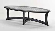 Deco Coffee Table (Black). Shown in hand rubbed black Italian dye, this timeless, Deco design table is made from solid tiger maple with hardwood doweled construction and then finished with hand rubbed, multi layer lacquer. The center inset is polished, engine turned stainless steel. Black Italians, Design Table, Outdoor Furniture, Outdoor Decor, Engine, Hardwood, Construction, Stainless Steel, Coffee