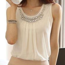 Kadın Blusas femininas vetement femme vücut 2016 bayan gömlek Tops bluzlar blusa y camisas mujer Artı Boyutu Beyaz Şifon Bluz(China (Mainland))