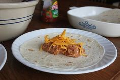 Lunchbox freezer cooking - bean and cheese burritos