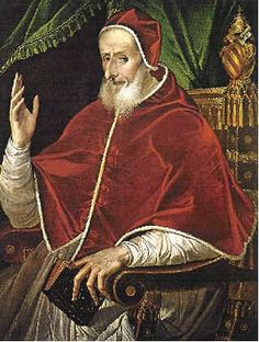 ***character, plays some sort of role, connected somehow***. Pope St. Pius V who implemented the decrees of the Council of Trent.
