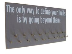 medals holders with inspirational quotes via Etsy