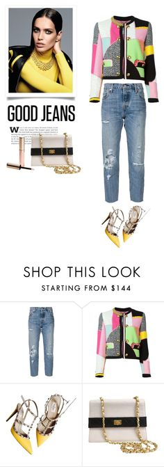 """""""Distressed denim"""" by bogira ❤ liked on Polyvore featuring Levi's, Moschino, Valentino, Chanel, By Terry, women's clothing, women, female, woman and misses"""