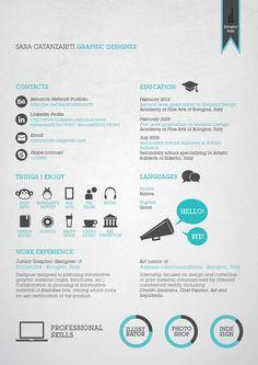 Sara Catanzariti's Resume. 20 Innovative Resume Designs.