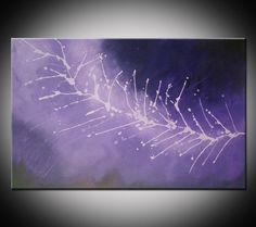 Purple Abstract Painting Purple Abstract Art by VivianaFleing