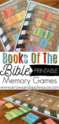 Learning The Books Of The Bible is part of Books of the bible - These fun printable will help your little ones (or even you!) learn the books of the Bible in no time! With the books organized by category, it's easy! Bible Activities For Kids, Bible Games, Bible Crafts For Kids, Bible Study For Kids, Bible Lessons For Kids, Bible Bible, Kids Bible, Books Of Bible, Bible Study Crafts