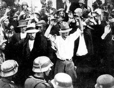 Gdansk, Poland, September 1939, Men arrested by German soldiers.