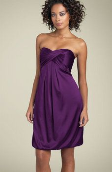 Wedding, Bridesmaids, Purple - Nicole Miller twist front dres