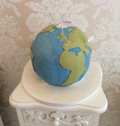 World themed cake