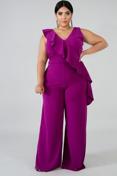 Plus Jumpsuit – Page 3 – GitiOnline Older Women Fashion, Plus Size Fashion For Women, Curvy Fashion, Girl Fashion, Fashion Outfits, Womens Fashion, Fashion Hats, Fashion Edgy, Fashion Trends