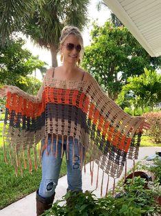 Boho Crochet Patterns, Hippie Crochet, Crochet Headband Pattern, Bohemian Tops, Hippie Tops, Boho Top, Hippie Outfits, Couture, Warm Colors