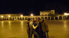 night time in the square, coming back from a late night at Sidi Ali