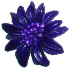 Purple Leather Mini Brooch / Pin Tribe leather. $7.50. Other colors available. Shipping to the USA 3 to 6 days from England. Great for shoes,hats and cushions as well !