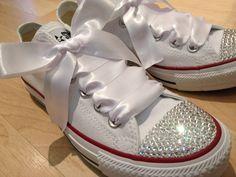 825dd1d92 10 Best wedding converse images | Bride shoes flats, Bridal shoe ...
