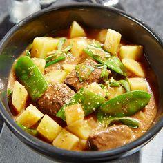 Rindfleischeintopf mit Kartoffeln und Zuckererbsenschoten KRUPS PREP&COOK
