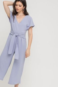 35312151463b Short Sleeve Tunic Jumpsuit - Lilac – 3 Sisters