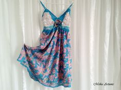 Dress in silk with bust felting by Mishaartunic on Etsy