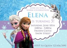 Frozen Invitation  Frozen Party  Frozen by ColorfulPaperPrints