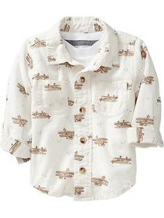 Plane Print Shirts for Baby- 18-24 month
