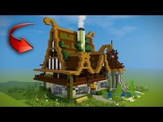 http://minecraftstream.com/minecraft-tutorials/minecraft-how-to-build-a-mansion-survival-house/ - Minecraft: How to Build a Mansion - Survival House  Minecraft: How to build a mansion – survival house In today's video we build a huge beautiful medieval wooden house survival mansion. This is a large house made from oak and spruce with a watchout tower and a horse stables with 2 back balcony's.  ► Follow My Social Media! ●...