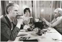 dinner with David Bowie & Iggy Pop