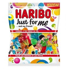 Haribo Just For Me - Génération Souvenirs Cake Roll Recipes, Snack Recipes, Harry Potter Candy, Popular Candy, All Candy, Junk Food Snacks, Pastel Candy, Cute Snacks, Cereal Bars