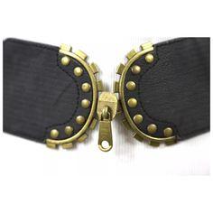 "Black Belt Gold Metal Zipper Stretch Belt OSFM ‼️PRICE FIRM‼️   Zipper Stretch Belt  Love it!!!  Black stretch cinch belt adorned with gold color metal studs and zipper effect.   Size range from 28"" to 39"". Boutique Accessories Belts"