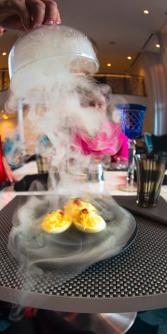 Deviled Eggs   Defy reality onboard Royal Caribbean's Wonderland restaurant, where immaculate edible creations come to life right before your eyes.