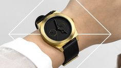 Geometric, Matt Black & Gold Watch - #AARK http://www.oliveetoriel.com/2013/07/aark-collective.html