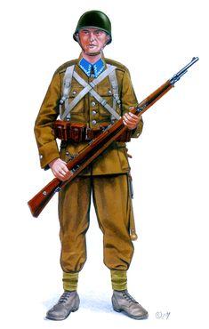 Esercito Polacco - Soldato di fanteria polacco, con un Mauser mm. Military Gear, Military History, Poland Ww2, Ww2 Uniforms, Central And Eastern Europe, Army Uniform, Battle Dress, World War Two, Wwii