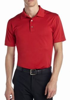 Pro Tour Chili Pepper Short Sleeve Airplay Solid Polo Shirt