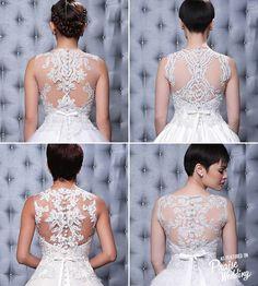 vestido con encaje novia