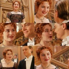 Jack & Rose ♡♡♡ they are sooooooo perfect together they belong together they are made for each other they are real true soulmates they're love last FOREVER the destiny match them Titanic Movie Scenes, Romantic Movie Scenes, Romantic Movies, Real Titanic, Titanic History, Titanic Dress, Titanic Quotes, Kate Winslet And Leonardo, Leo And Kate
