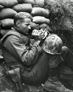 Soldier Feeding a Kitten. I Love Our Armed Forces.