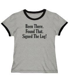 Geocaching Women Ringer T-Shirt