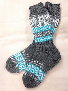 Ravelry: Talvitassut pattern by Sanna Hepo-oja Wool Socks, Knitting Socks, Knitting Projects, Mittens, Ravelry, Knit Crochet, Gloves, Crafty, Nye